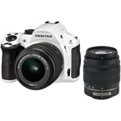 Pentax K-30 Weather-Sealed 16MP CMOS Digital SLR Dual Lens Kit, 18-55mm and 50-200mm (White) (OLD MODEL)