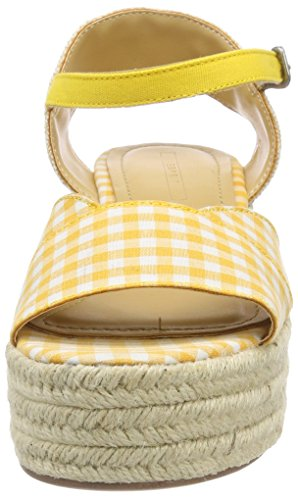 Esprit NEA Wedge, Sandales Plateforme Femme Jaune (Yellow)