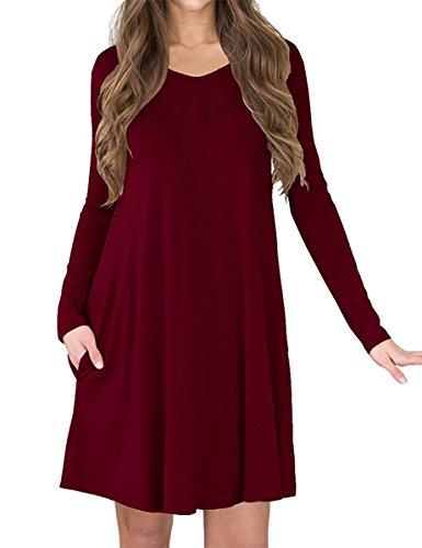 V-Neck Tunic Dress - 3