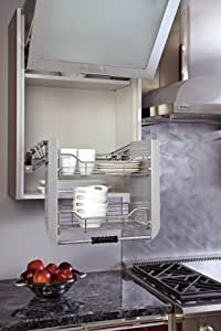 """Amazon.com: Cabinet Pull-Down Shelving System Wall Accessories - 5PD-36CRN - 34-1/4""""W x 10-1/2""""D"""