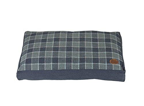Grey 42-Inch Grey 42-Inch SNUG AND COSY Checker Square Bed, 42-Inch, Grey