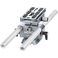 Movo BPR-9 Universal Baseplate System with 15mm Rods & Quick Release Plate for DSLR & Mirrorless Cameras