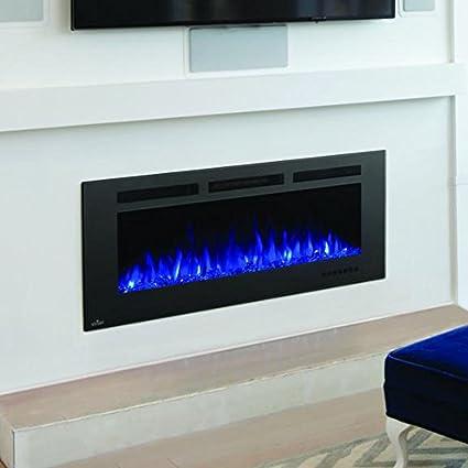 Napoleon Nefl50fh Mt Allure Phantom Series Linear Slimline Wall Mount Built In Electric Fireplace 50 Inch