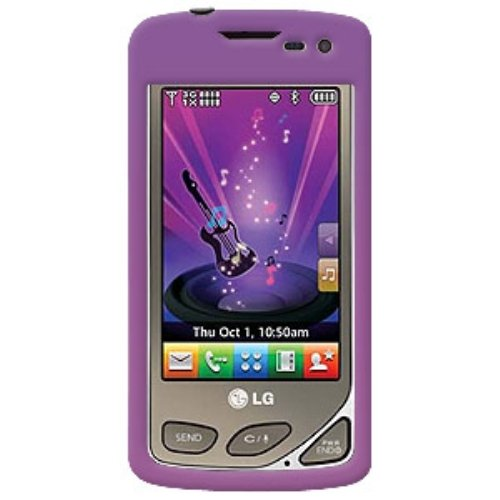- Amzer Polished Snap-On Crystal Hard Case for LG Chocolate Touch VX8575 - Purple