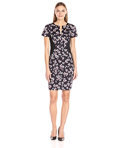 French Connection Eva Cotton, Vestido para Mujer Blue (Utility Blue Multi)