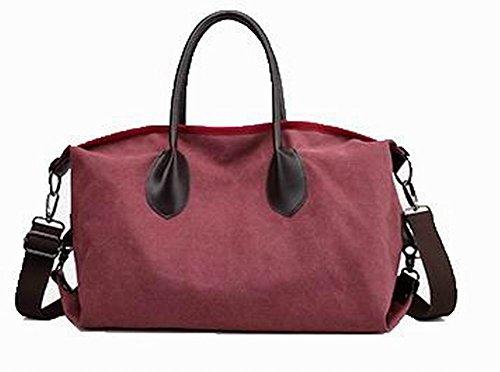 Voguezone009 Women To Travel Canvas Zipper Bags Handbags Red Cross