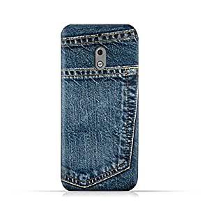 AMC Design Nokia 2.1 2018 TPU Silicone Protective Case with Jeans Pocket Pattern