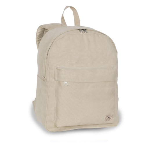 Everest Classic Laptop Canvas Backpack Color: Khaki