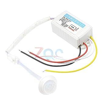 AC 220V cuerpo humano infrarrojo sensor IR interruptor de luz automático inteligente lámparas controlador sensores para el corredor/escaleras: Amazon.es: Industria, empresas y ciencia