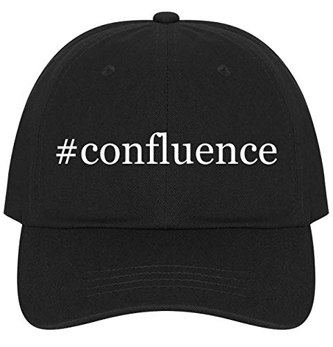 The Town Butler #Confluence - A Nice Comfortable Adjustable Hashtag Dad Hat Cap, Black (Joseph Confluence Pack)