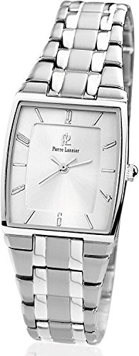 PIERRE LANNIER watch Tonneau Metal Silver P104H621 Ladies
