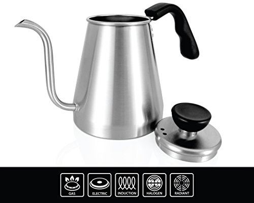 Where Can You buy Ovalware Pour Over Coffee and Tea Drip Kettle 1L – RJ3 Stainless Steel Precision Gooseneck Spout for Home Brewing, Camping and Traveling (Stainless Steel, 1 Liter)