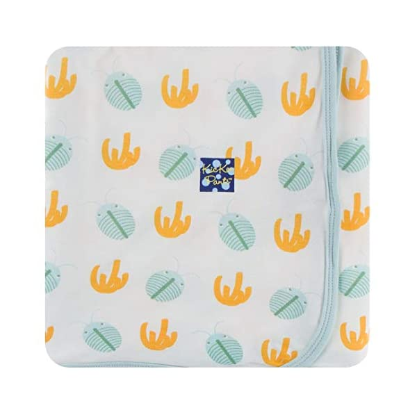 KicKee Pants Print Swaddling Blanket (One Size, Trilobites)