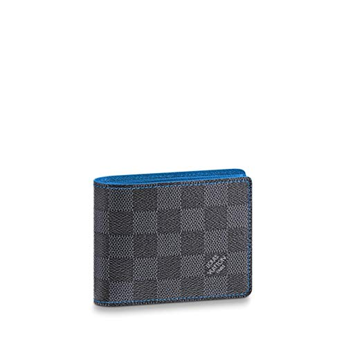 Louis Vuitton Damier Graphite Canvas Blue Slender Wallet N64033 (Louis Vuitton Damier Graphite)