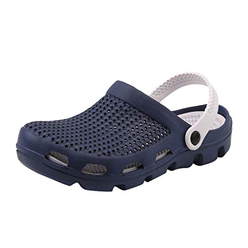 SMALLE_Shoes Garden Clogs for Men Outdoor,SMALLE◕‿◕ Men Quick Drying Shoes Summer Beach Slipper Anti-Slip Outdoor Walking Slipper Blue
