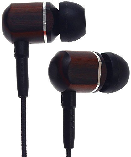 Symphonized MTRX Premium Genuine Wood in-Ear Noise-isolating Headphones with Mic and Nylon Cable
