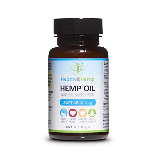 Mg Capsules 300 10 (Health of Hemp 10mg Hemp Oil Capsules - 30 Pieces Healthy Gel Cap Supplement: 300mg)