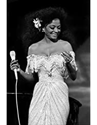 Diana Ross 4x6 inch press photo in concert circa 1970's 4x6 inch photo