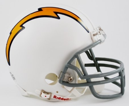 NFL Riddell San Diego Chargers Throwback Mini Helmet
