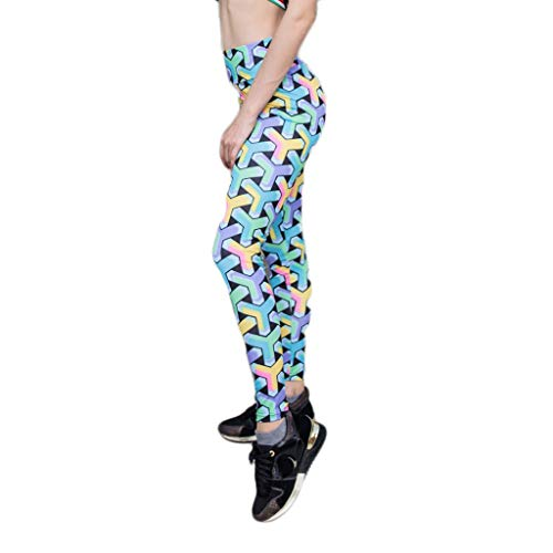 Women Bottom Trousers, BOLUBILUY Coral Printed Yoga Pants Sports Slim Ankle-Length Pants Jeans Spliced Pencil Trousers