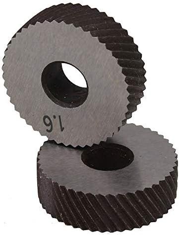 No Logo Rändelfräswerkzeuge Paar 1.6mm Wälzfräser Rad Rändelrad Strukturierter Knurled Lathe Prägeradabschnitt Werkzeugmaschinen Zubehör Hob für Metalldrehmaschine