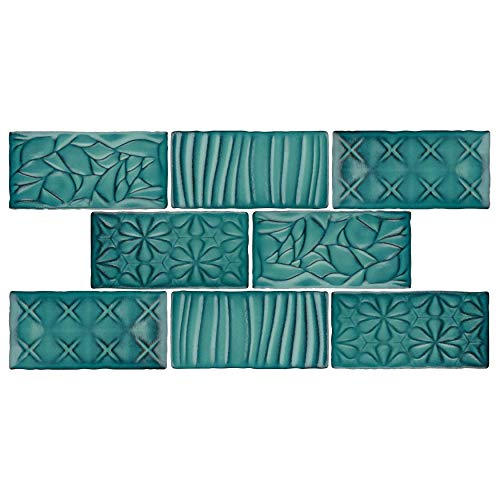Verde Glaze Ceramic - SomerTile WCVASNL Antigue Sensations Ceramic Wall Tile, 3