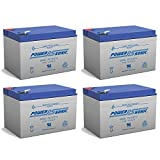 Powersonic Battery Replacement for Power-Sonic PS-12120F2 PS-12120 F2,12V 12AH EA. - 4 Pack