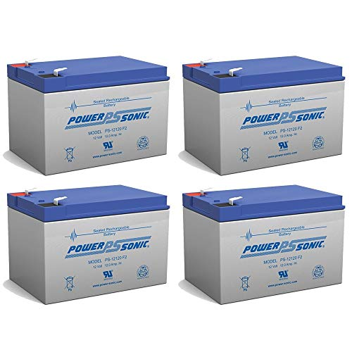 - Powersonic 12V 12Ah F2 Star II, X-Port X-Treme X-360 Zooma Electric Scooter Battery - 4 Pack