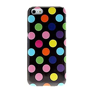 diy case Colorful Round Dots TPU Soft Case with Matte Protection for iphone 6 4.7 Black