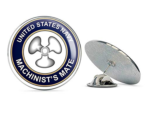 (US Navy Machinists Mate MM Military Veteran USA Pride Served Gift Metal 0.75