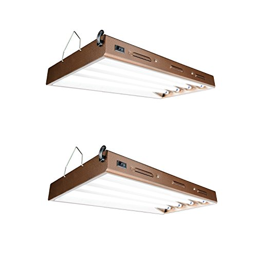 Agrobrite Designer T5 96W 2' 4-Tube Daisy Chainable Grow Light Fixture (2 Pack) by AgroBrite