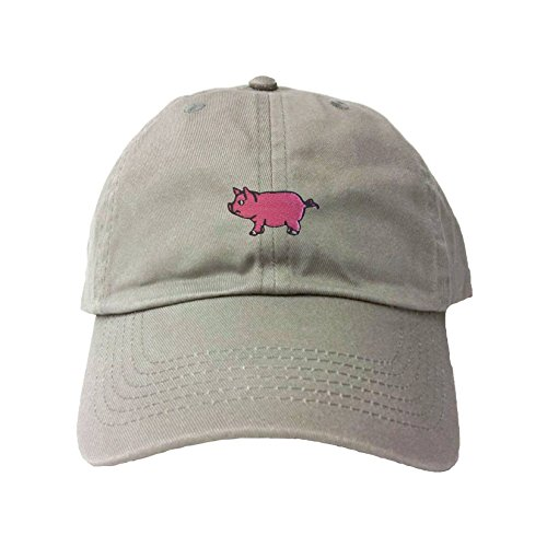 Go All Out Adjustable Grey Adult Pig Embroidered Dad ()