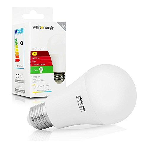WHITENERGY LED Bulb | 10x SMD 2835 LED | A60 | E27 | 10W| 230V | White Warm (10075)