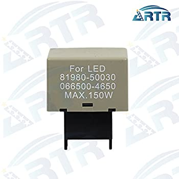 1PC ARTR 8-Pin 81980-50030 066500-4650 Electronic LED Flasher Assy Relay Fix For Lexus Scion or Toyota LED Turn Signal Light Bulbs