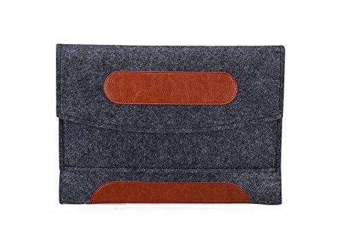 Needle Felt Carrying Sleeve bag Breifcase for Acer Iconia One 10 / Lenovo ThinkPad 10 10.1 / Tab3 10 / Miix 310 / Miix 320 / Tab 4 10 Plus / Huawei MediaPad M2 10 / Mediapad M3 Lite 10.1 (Black)
