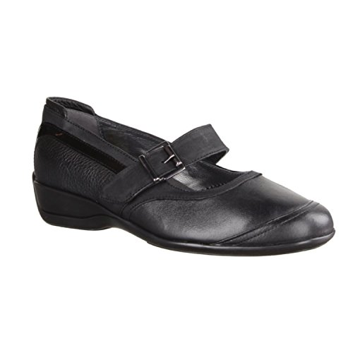 X sensible Rubano - Zapatos cómodos / relleno suelto Zapatos mujer Cómodo Bailarina / Mocasines, Negro, piel ceñida (extensible), altura de tacón: 30 mm