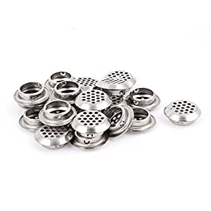 uxcell Round Panel Shoes Cabinet Air Vent Louver Cover 25mm Bottom Dia 20pcs