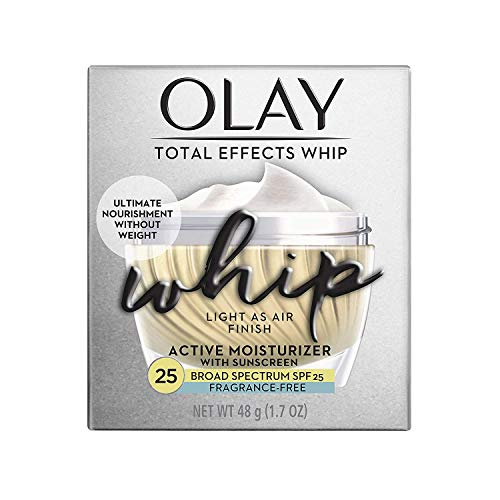 Olay Total Effects Whip Face Moisturizer with Sunscreen, SPF 25 Fragrance-Free, 1.7 oz