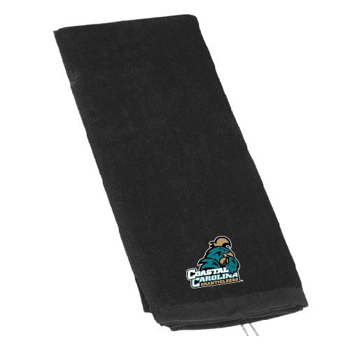Coastal Carolina Black Golf Towel 'Official Logo' by CollegeFanGear