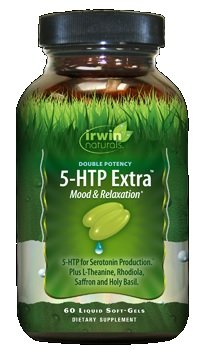 Irwin Naturals 5-HTP Extra, 60 SoftGels Each (Pack of 4)