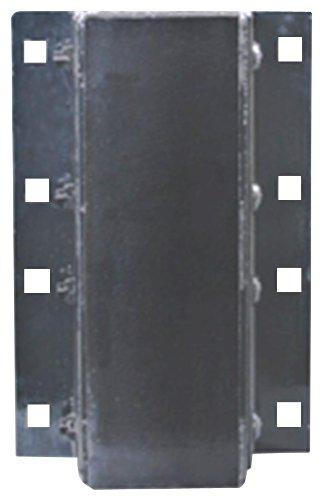 3 Holes Horizontal Mount 23-1//4 Length Durable Corporation Dura-Soft Rubber Dock Bumper Flat Plate One Side 5-1//2 Depth Rectangular 12 Width 24 Center to Center Hole Laminated