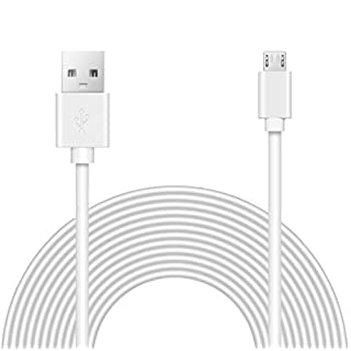 15ft Power Extension Cable Compatible with Blink, Wyze, Oculus, Playstation Classic, Xbox360, and Cameras - White -