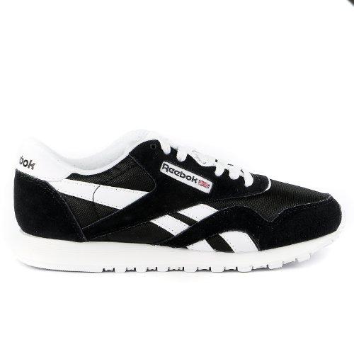 Reebok Women's Classic Sneaker, Black/White, 8 M US - Reebok Suede