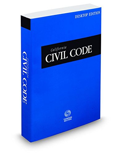 California Civil Code 2018: California Desktop Codes