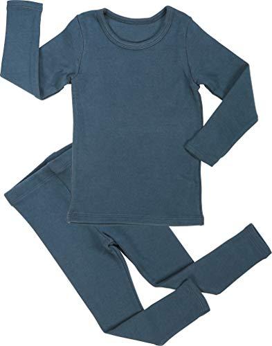 Baby Boys Girls Pajama Set 6M-8T Kids Toddler Snug fit Cotton Sleepwear (A-Blue X-Large(110)/4T-5T)