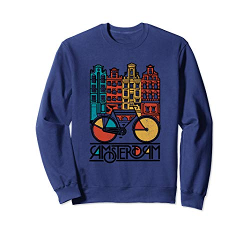 New Retro Bicycle Bike Amsterdam City Sweat Jersey