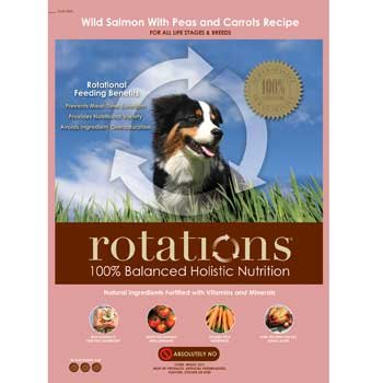 ROTATIONS Dry Dog Food Wild Salmon & Peas, 27 lbs.
