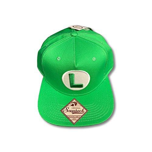 Luigi Super Mario Green Snapback Baseball -