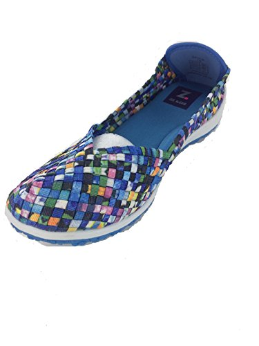 Zee Alexis Womens Spice Dames Slip-on Turquoise Multi Turquoise Multi