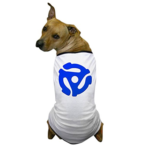 Funny R Rated Costumes (CafePress - Blue 45 RPM Adapter Dog T-Shirt - Dog T-Shirt, Pet Clothing, Funny Dog Costume)